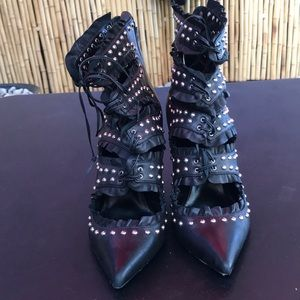 Altuzarra Shoes - Altuzarra leather studded pumps